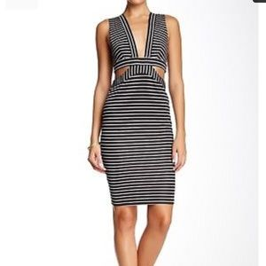 Bec & Bridge Cut Out Striped Dress